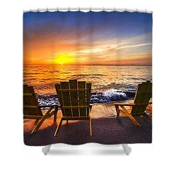 Sea Dreams II Shower Curtain by Debra and Dave Vanderlaan