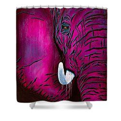 Seeing Pink Elephants Shower Curtain