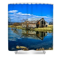 Sequatchie Valley Barn Shower Curtain by Paul Mashburn