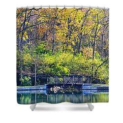 Sequiota Park Shower Curtain by Deena Stoddard