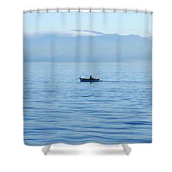 Serenity Shower Curtain by Marilyn Wilson
