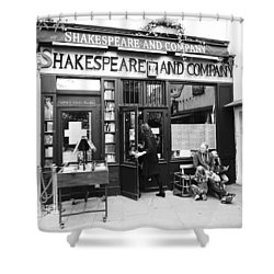 Shakespeare And Company Bookstore In Paris France Shower Curtain
