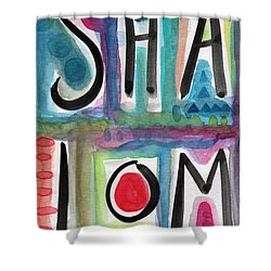 Shalom Shower Curtain by Linda Woods