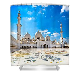 Sheikh Zayed Mosque - Abu Dhabi - Uae Shower Curtain by Luciano Mortula