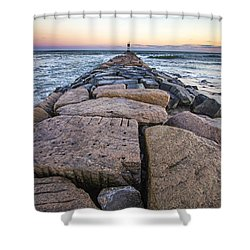 Shinnecock Inlet Jetty Shower Curtain