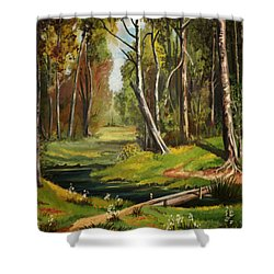 Silence Of The Forest Shower Curtain