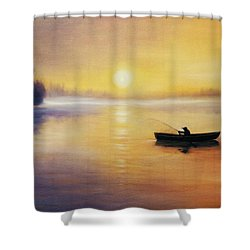 Silence Shower Curtain by Vesna Martinjak