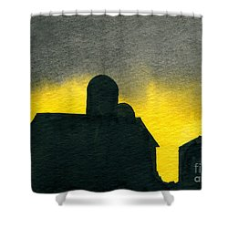 Silhouette Farm 2 Shower Curtain