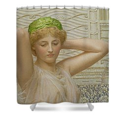 Silver Shower Curtain by Albert Joseph Moore