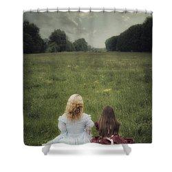 Sisters Shower Curtain by Joana Kruse