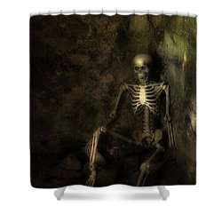 Skeleton Shower Curtain by Amanda Elwell