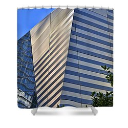 Skyscraper Abstract 4 Shower Curtain by Allen Beatty