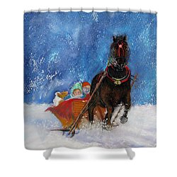 Sleigh Ride Shower Curtain