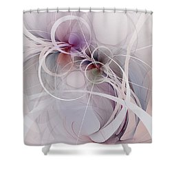 Shower Curtain featuring the digital art Sleight Of Hand by NirvanaBlues