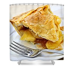 Slice Of Apple Pie Shower Curtain by Elena Elisseeva