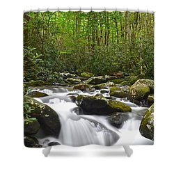 Smoky Mountain National Park Shower Curtain by Frozen in Time Fine Art Photography