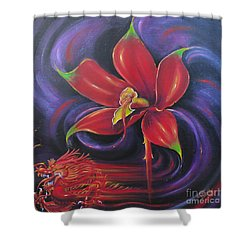 Snap Dragon Shower Curtain