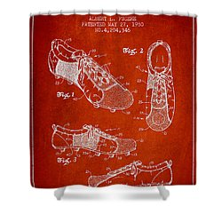 Soccershoe Patent From 1980 Shower Curtain by Aged Pixel