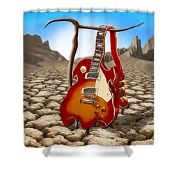 Soft Guitar II Shower Curtain by Mike McGlothlen