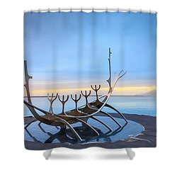 Solfar Sun Voyager Shower Curtain
