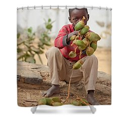 Shower Curtain featuring the photograph Somewhere Else On Goree Island  by Stwayne Keubrick