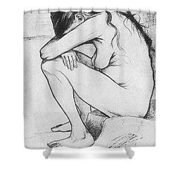 Sorrow  Shower Curtain by Vincent Van Gogh
