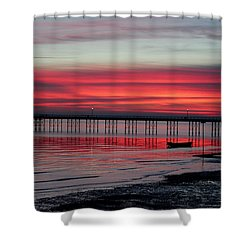 Southend Pier Sunset Shower Curtain
