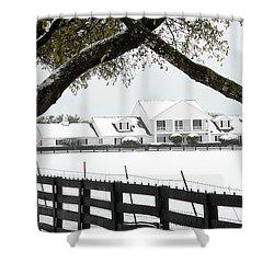 Southfork Ranch In Winter Shower Curtain