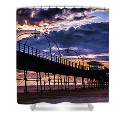 Southport Pier At Sunset Shower Curtain