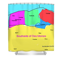 Southsiders View Of Des Moines Shower Curtain