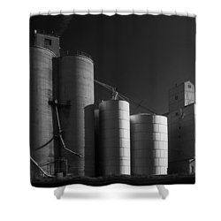 Spangle Grain Elevator Shower Curtain