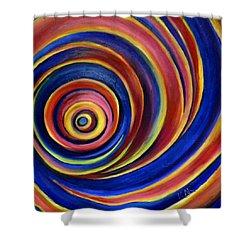Spirals Shower Curtain by Art by Kar