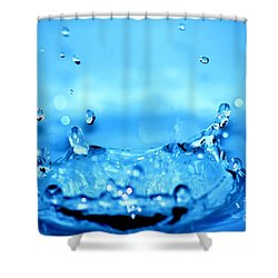 Splash Shower Curtain by Michal Bednarek