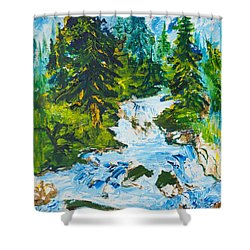 Spring Run-off Shower Curtain