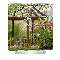 Spring Seating Shower Curtain by Living Color Photography Lorraine Lynch
