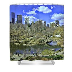 Springtime In Central Park Shower Curtain