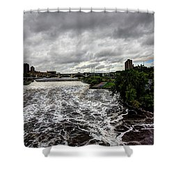 St Anthony Falls Shower Curtain by Amanda Stadther