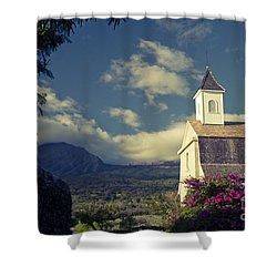 St. Joseph Catholic Church Kaupo Maui Hawaii Shower Curtain by Sharon Mau