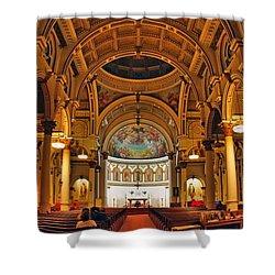 St. Leonard's Church....boston Shower Curtain by Joann Vitali