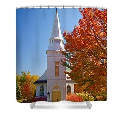 St Matthew's In Autumn Splendor Shower Curtain