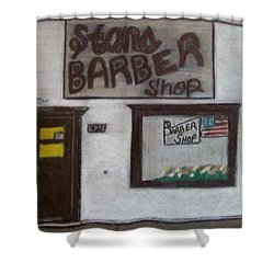 Stans Barber Shop Menominee Shower Curtain by Jonathon Hansen