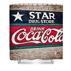 Star Drug Store Wall Sign Shower Curtain by Scott Pellegrin