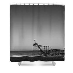 Star Jet Roller Coaster Hdr Shower Curtain by Michael Ver Sprill