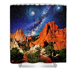Starry Night At Garden Of The Gods Shower Curtain