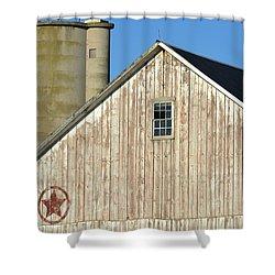 Stars In Circles Barn Shower Curtain