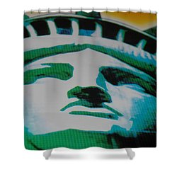Statue Of Liberty  Shower Curtain by Rob Hans
