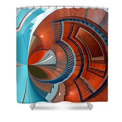 Shower Curtain featuring the digital art Step by Nico Bielow