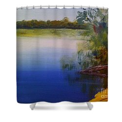 Still Waters - Original Sold Shower Curtain by Therese Alcorn