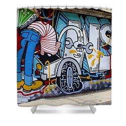Street Art Valparaiso Chile 15 Shower Curtain by Kurt Van Wagner