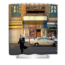 Street Scene In Teheran Iran Shower Curtain